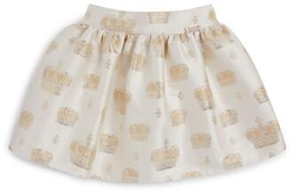 Lesy Crown Print Skirt (3-14 Years)