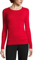 Liz Claiborne Long Sleeve Crew Neck Sweater-Talls