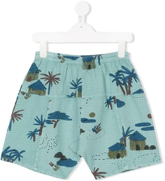 Bobo Choses Tree Print Shorts