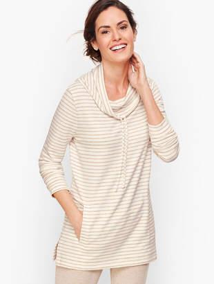 Talbots Stripe Cowlneck Pullover