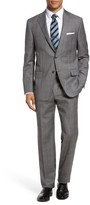 Hickey Freeman Men's B-Series Classic Fit Plaid Wool Suit
