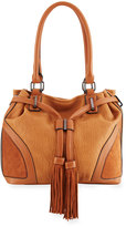 French Connection Heidi Faux-Leather Bucket Bag, Nutmeg