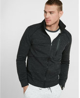 Express space dye double knit zip-up jacket