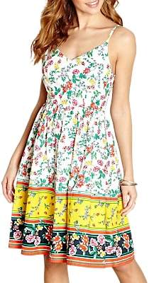Yumi Floral Print Skater Dress, Multi