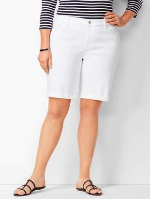 Talbots Girlfriend Jean Shorts - White/Curvy Fit