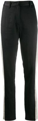 Ann Demeulemeester stripe slim-fit trousers