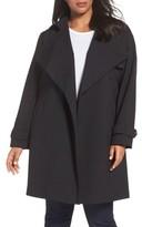 MICHAEL Michael Kors Plus Size Women's Drape Front Trench Coat