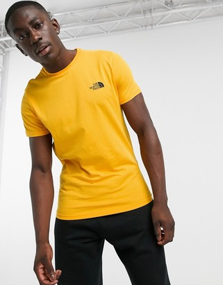 The North Face Simple Dome t-shirt in yellow