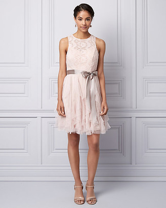 Le Château Lace & Sparkle Mesh Illusion Party Dress