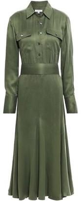 Equipment Lenora Washed Silk-blend Midi Dress
