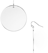 Argentovivo Round Disc Drop Earrings