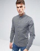 Blend of America Woven Pattern Slim Fit Shirt