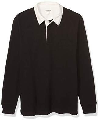 Goodthreads Amazon Brand Men's Long-Sleeve Solid Rugby