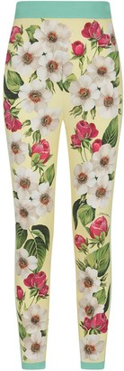 Dolce & Gabbana Floral Print Silk Trousers