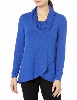 Amy Byer Women's Tulip Hem Cowl Neck Sweater