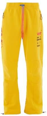 Off-White Logo-print Track Pants - Mens - Yellow Multi