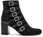 Saint Laurent Babies Suede Buckle Boots