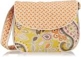 Hoohobbers Messenger Diaper Bag, Yellow Flirty Flowers