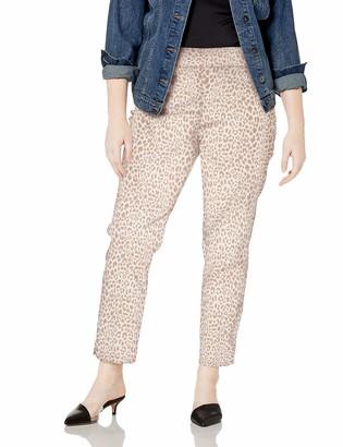 Slim Sation SLIM-SATION Women's Plus Size Pull On Print Ankle Pant