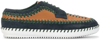 Kolor Contrast Stitching Lace-Up Shoes