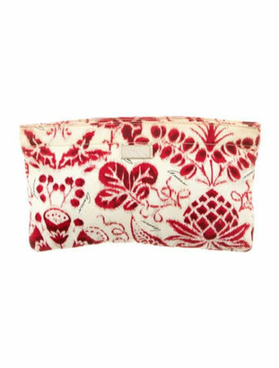 Gucci Printed Nylon Pouch Red