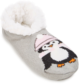 Charles Albert Light Gray Penguin Slipper - Women