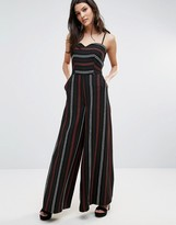 Liquorish Striped Jumpsuit