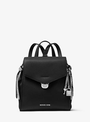 MICHAEL Michael Kors MK Bristol Small Leather Backpack - Black - Michael Kors