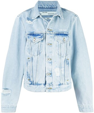 Off-White embroidered denim jacket