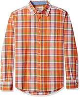 Margaritaville Men's Long Sleeve Parrot Plaid Shirt