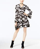 INC International Concepts Printed Zip-Up Fit & Flare Dress, Created for Macy's