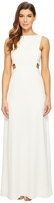 Jill Stuart Jill Women's High Neck Side Cut Out Gown
