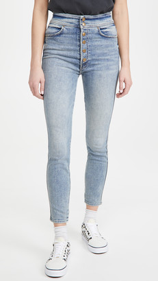 Mother The Swooner Snapped Ankle Jeans