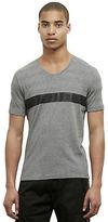 Kenneth Cole Contrast Stripe V-Neck T-Shirt