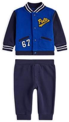 Ralph Lauren Baseball Jacket and Sweatpants Set