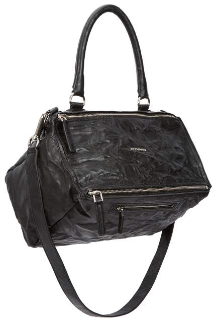 Givenchy Pandora Medium Black Leather Shoulder Bag