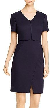 Elie Tahari Alessandra V-Neck Sheath Dress