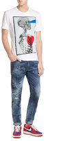DSQUARED2 Cotton T-Shirt with Skeleton Print