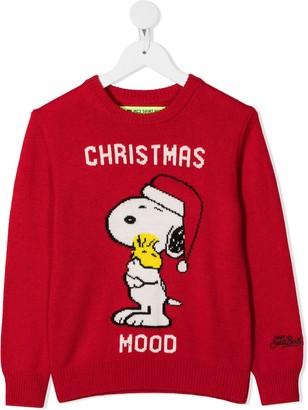 Mc2 Saint Barth Kids Snoopy Intarsia Knit Jumper