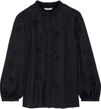 Joie Teda Broderie Anglaise Crepe De Chine Blouse