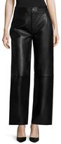 Helmut Lang Leather Patch Pocket Wide Leg Pant