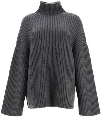Nanushka Raw Chunky Knit Turtleneck Sweater