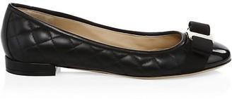 Salvatore Ferragamo Varina Quilted Leather Ballet Flats