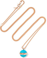 Piaget Possession 18-karat Rose Gold, Turquoise And Diamond Necklace - one size