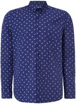 Peter Werth Men's Aerial Printed Cotton Shirt