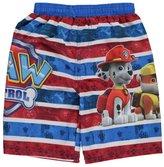 "Paw Patrol Little Boys' Toddler ""Striped Paws"" Swim Trunks"