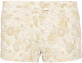 Tom Ford Floral-appliquéd silk shorts