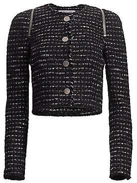 Alexander Wang Women's Zipper-Trimmed Tweed Jacket