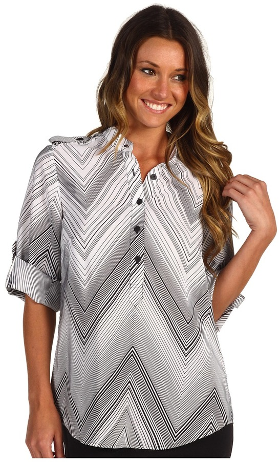 Trina Turk Paula Top (Black/White) - Apparel
