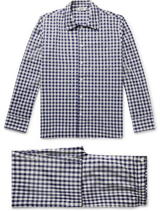 Sleepy Jones Henry Piped Gingham Cotton-Poplin Pyjama Set